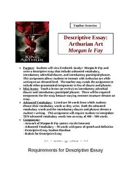 Descriptive Essay High School: Arthurian Art