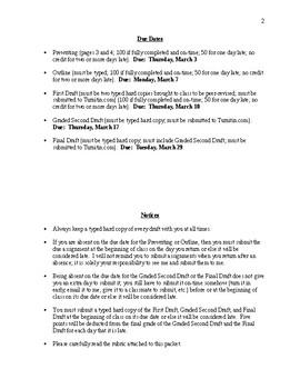 Descriptive Essay Assignment/Unit - CCSS Aligned