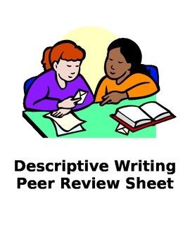 Descriptive Essay Writing Peer Review Sheet