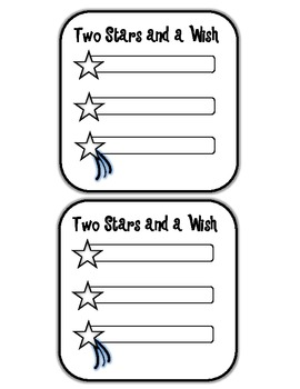 Descriptive Feedback using Two Stars and a Wish