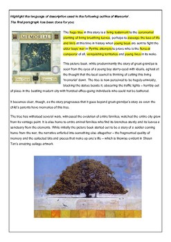 Descriptive Language - A study of Memorial - G.Crew and S.Tan
