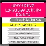 Descriptive Language Activity Packet Bundle
