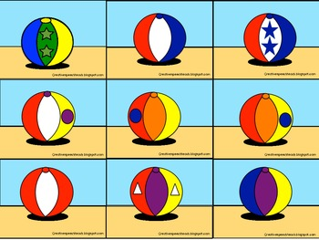 Descriptive Language Beach Balls~ Critical Listening, Exp. Language & Reading