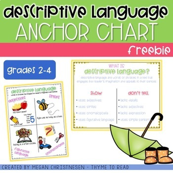 Descriptive Language {FREEBIE}