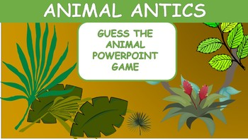 Descriptive Language Game (PowerPoint)