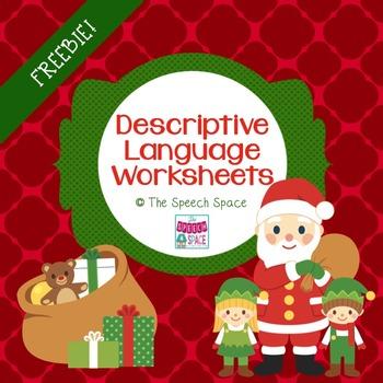 Descriptive Language Holiday Freebie