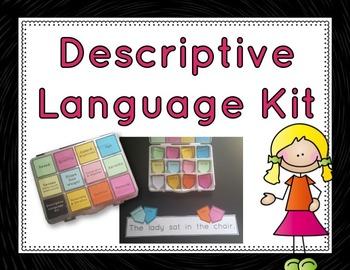 Descriptive Language Kit: sentence building activity for descriptive writing