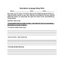 Descriptive Language Relay Write