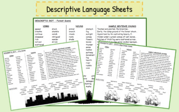 Descriptive Language Sheets - Writing Story Settings