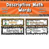 Descriptive Math Words  APT-001