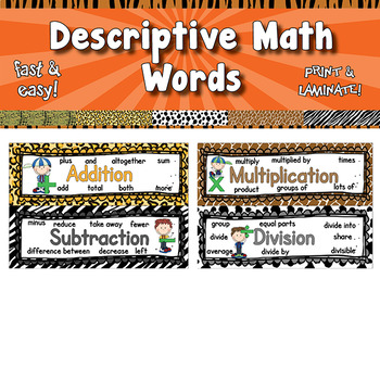 Descriptive Math Words  APT-001