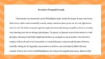 Descriptive Paragraph Bundle
