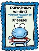 Descriptive Paragraph Writing FREEBIE