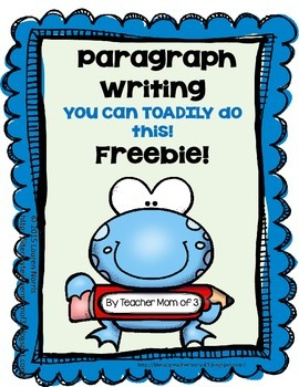Descriptive Paragraph Writing FREEBIE