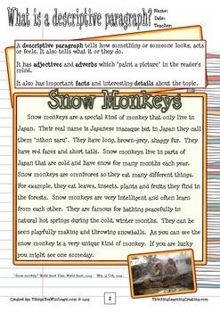 How to Write a Descriptive Paragraph (Writer's Process)