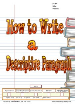 How to Write a Descriptive Paragraph (Writer's Process)