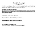 Descriptive Paragraphs - Writing Process & Drafting Activities