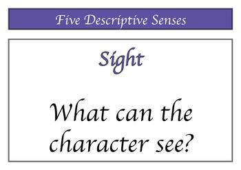 Descriptive Senses Poster