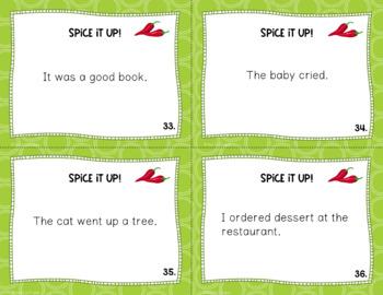 Descriptive Sentences Task Cards: Spice it up!