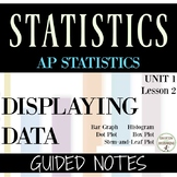 Displaying Data notes Histogram Box Plot Dot Plot Stem and leaf plot