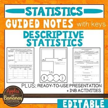 Descriptive Statistics-  Interactive Notebook Activities & Scaffolded Notes