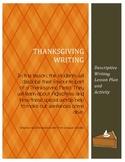 Descriptive Thanksgiving Writing