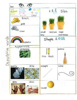 Descriptive Words Using the 5 senses