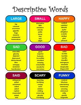 Descriptive Words for Writing