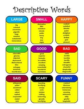 Descriptive Words for Writing