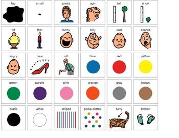 Descriptive Words picture symbols (AAC)