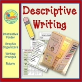 Descriptive Writing - Graphic Organizer, Writing Prompts a