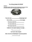 Descriptive Writing 5 Senses Food Homework Worksheet