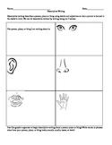 Descriptive Writing (5 senses) Graphic Organizer