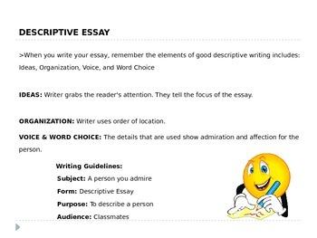 Descriptive Writing - 6th Grade