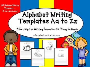Alphabet Writing A to Z (Descriptive Writing Templates)
