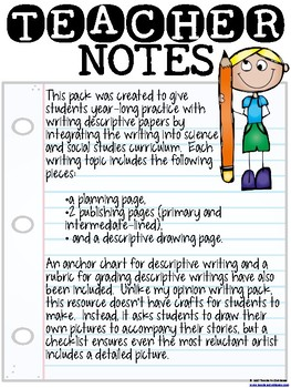Descriptive Writing Across the Curriculum