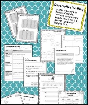 Descriptive Writing Activities | Descriptive Words | 3rd, 4th, 5th, 6th