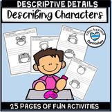 Descriptive Writing Activity - Using Descriptive Details With Characters