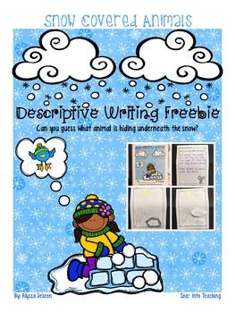 Descriptive Writing Activity {Who's Hiding Under the Snow?}