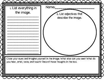 Descriptive Writing Activity for Fall