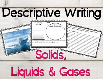 Descriptive Writing Activity for Solids, Liquids and Gases
