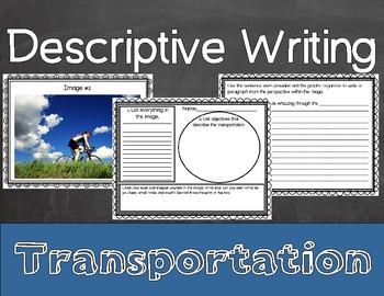 Descriptive Writing Activity for Transportation