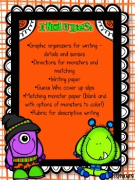 Descriptive Writing: Adding Details Monster Match Style