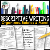 Descriptive Writing - Graphic Organizers, Examples, Rubric