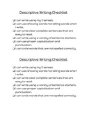 Descriptive Writing Checklist