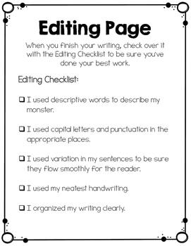 Descriptive Writing Craftivity