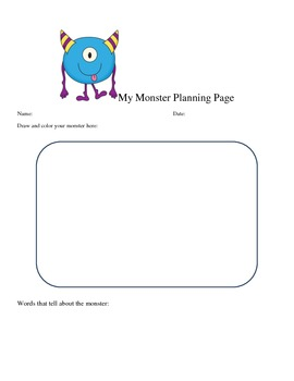 Descriptive Writing: Create a Monster