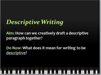 Descriptive Writing - Creative Writing Collaborative Group Activity