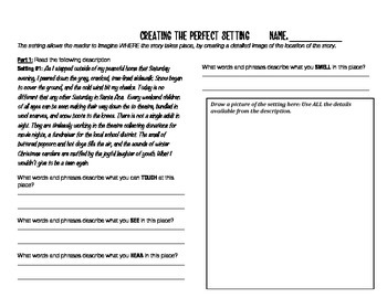 Narrative Writing: Describing the Setting in a Story