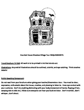 Descriptive Writing  Design Your Own Haunted House Project TpT